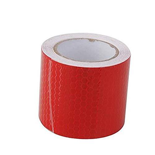Hemore Reflektierendes Klebeband, 5 cm x 3 m, rot, Sicherheitsband, Reflektorband, Warnband für Fahrzeuge, Autos, Anhänger, Fahrräder, Aufkleber, selbstklebender Kunststoff (Tool Band-auto-aufkleber)