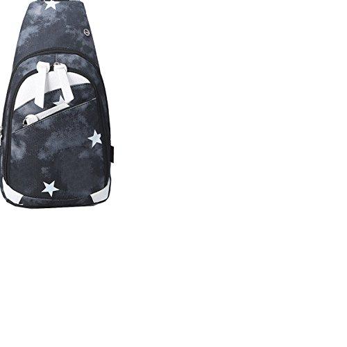 Yy.f Mode-Taschen Freizeittaschen Herren-Rucksack Oxford Männer Tuch Druck Hervorragende Tasche Multicolor B