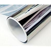 Solar Tec 600 x 76 cm - Pantalla universal para protección solar, lámina de espejo con una protección UV del 99% y un 78% de reducción del brillo, superficie de espejo muy brillante, resistente y autoadhesiva para la instalación interior y exterior, vidrio