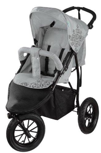 Knorr-baby 883939 Passeggino a tre ruote Buggy Joggy S, colore: Grigio chiaro/Nero