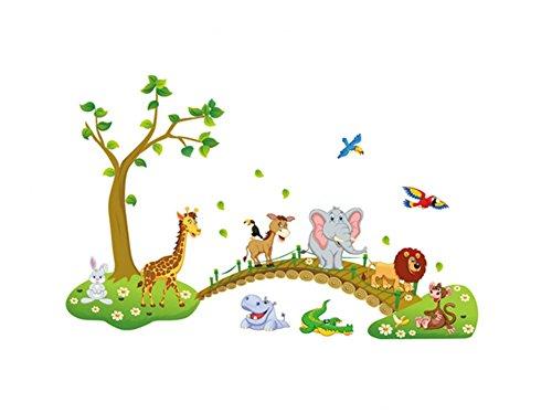 moolecole-cartoon-animaux-de-la-foret-pvc-stickers-muraux-enfants-chambre-salle-de-sejour-decoratifs