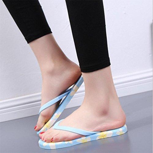 Vovotrade Sommer Frauen Sandalen Flip-Flops Sandy Beach Bad Kühler Hausschuhe Schuhe Blau