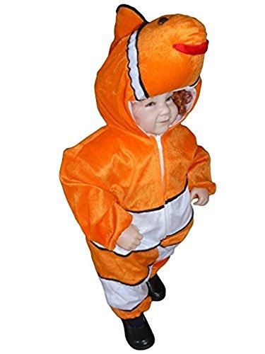 Fox Kleinkind Kostüm - Fisch Kostüm, J22 Gr. 74-80, für Babies und Klein-Kinder, Fisch-Kostüme Fische Kinder-Kostüme Fasching Karneval, Kinder-Karnevalskostüme, Kinder-Faschingskostüme, Geburtstags-Geschenk