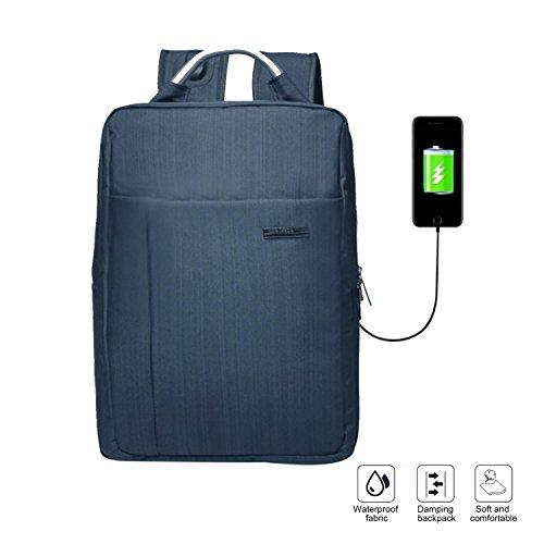 Business Laptop Rucksack für Herren, aolve Anti Diebstahl wasserabweisend Computer Rucksack mit USB Lade-Port Multifunktions Groß Kapazität Wandern Daypacks Casual tragbar, dunkelbraun, Einheitsgröße (Sicherheits-freundlichen Laptop-rucksack)