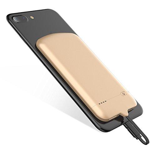 iPhone externer Akku 4000mAh [3nd Generation], Ultra dünn Akku Fall (0,7cm Stärke, 59G Gewicht), Highspeed Ladekabel Technologie Power Bank für iPhone X 8Plus)/6(S)/7Fall