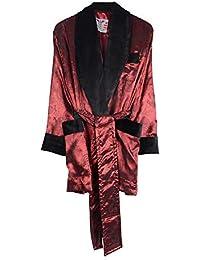 Bown of London Herren Satin-Effekt Burgund Smoking-Jacke mit schwarzem Samt  mit… d19dd56568