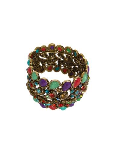 Schicke Design Armband,Multicolor mit Strass