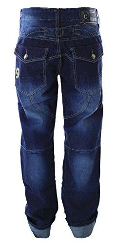 Coole Herren Jeans Denim im Gargo Style Denim Blau