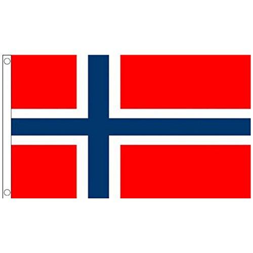 NiceButy 1Pcs 90* 150cm Flagge Nationaler Dekorationen Internationalen Flaggen-Spiel von Ländern für Vereine Sportler, Feier der Vorgang-Bär Flag Nationaler # Norwegen # Norwegen-pc