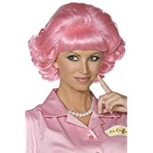 Smiffys Frenchy Wig - Pink