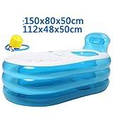 Faltbare aufblasbare dicke warme erwachsene Badewanne aufblasbare Pool-blaue Baden-Wanne , blue , 150cm