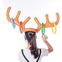 Anillo de Navidad con diseño de reno hinchable y atractivo, ideal como regalo, A