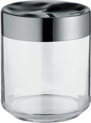 Alessi LC08 - Tarro de cristal con tapa hermética de acero inoxidable 18/10 (acabado brillante)