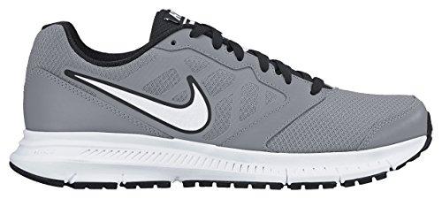 Nike Downshifter 6 Scarpe da ginnastica, Uomo Grigio / Bianco / Nero (Stealth / White-Black-Black)