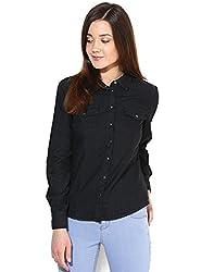 ONLY Womens Body Blouse Shirt (15104416_Black_40)