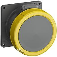 ABB 232ERU4W IP67 2P+E - Enchufe para panel angular, plástico, color amarillo