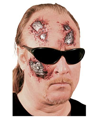Kostüm Terminator Das - Horror-Shop 3-teilige Roboter Cyborg Wunde
