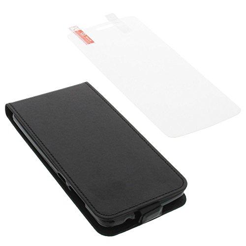 foto-kontor Tasche für Elephone P8000 Smartphone Flipstyle Schutz Hülle schwarz + Schutzfolie