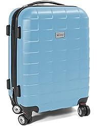 """Trolley Reisekoffer Reisetasche Gepäcktasche Größe M """"Squares"""" Farbe Himmelblau"""