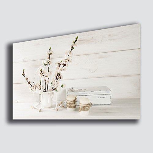 Quadro moderno Shabby Chic camera da letto Fiori Lavanda Candela ...
