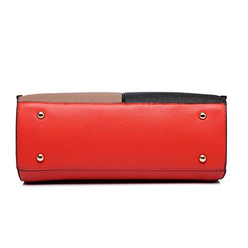 Miss Lulu , Sac pour femme à porter à l'épaule 6621 Red