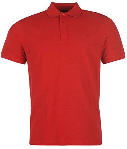 Poloshirt für Herren, kurze Ärmel, unifarben Rot