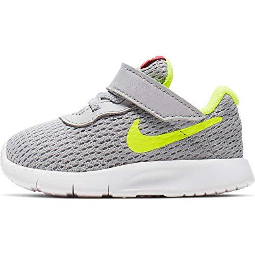 Nike Unisex Baby Tanjun (TDV) Niedrige Hausschuhe, Mehrfarbig (Wolf Grey/Volt/Rush Pink 000), 22 EU