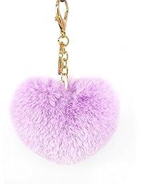 CTGVH Fashion Love pom pom Ball Keychain Fur Ball borsetta ciondolo  portachiavi auto carino regalo per aa7991980b72