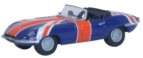 OXFORD DIECAST 76ETYP005 Jaguar E Type Union Jack for sale  Delivered anywhere in Ireland
