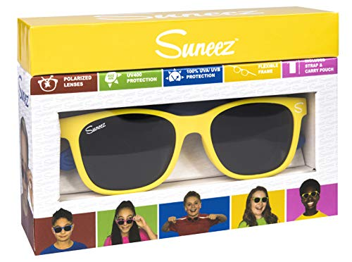 Wicked Unisex-Kinder Bossa Sonnenbrille, Mehrfarbig (Yellow/Blue), 49