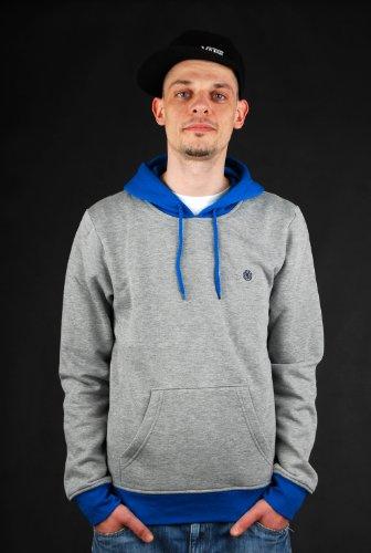 element-harlem-hoodie-grey-heather-pullover-gr-m