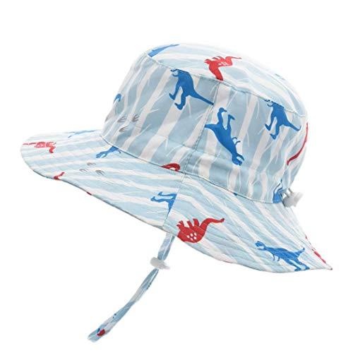 rmütze UV Schutz mit Kordelzug Breite Krempe Sommerhut, Kinder Mütze (Dinosaurier,50cm / 12-24 Monate) ()
