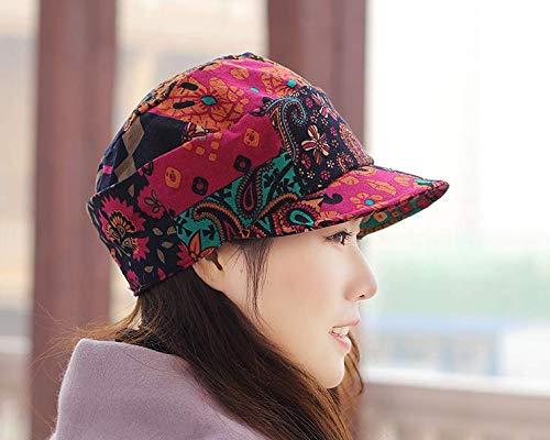 XINQING-MZ Hat das Mädchen Grafiken Gesicht small Cap Flat Top hat großen Code Gap Mutter cap Schirmmütze im Frühjahr und Sommer beret Tuch cap, Farbe/A
