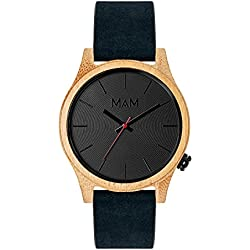 MAM Originals · Quail Blue | Reloj de Hombre | Diseño Minimalista | Reloj de Madera de bambú sostenible