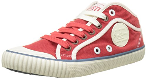 Pepe Jeans London Damen Industry Basic 17 Sneakers, Rot (Red Hot), 37 EU