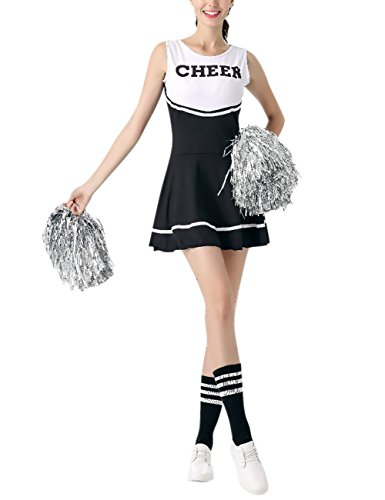 Mädchen Cheerleading Team Kostüme Vivid Farbe ärmelloses Kleid -