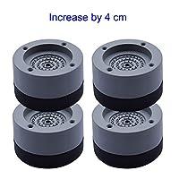 Proglam 4 Pcs Washing Machine Refrigerator Mute Rubber Mat Anti Vibration Anti Shock Pad