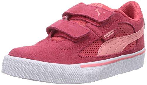 Puma - Puma S Evolution V Kids, Sneakers infantile Rosso (Rot (geranium-salmon rose 10))