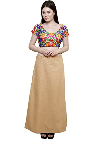 Pistaa Women's Cotton Skin Colour Best Comfort Readymade Inskirt Saree petticoats