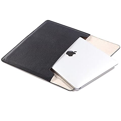 MacBook Laptop Hülle Sleeve, STONG 12 Zoll NoteBook Leder Tasche Hülle Sleeve Für MacBook 12 iPad Air iPad Pro 9.7 Hülle Sleeve (12 Zoll, Schwarz)