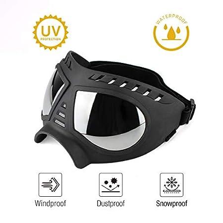Namsan Hundebrille UV Wasserdicht Winddicht Einstellbar Hunde Sonnenbrille Mode Hunde Schutzbrille für Mittel Große…