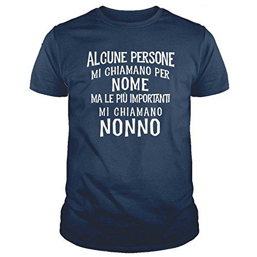 Ideamaglietta no0003u maglietta uomo alcune persone mi chiamano per nome ma le più importanti mi chiamano nonno idea regalo festa del papà natale (l, blunavy)