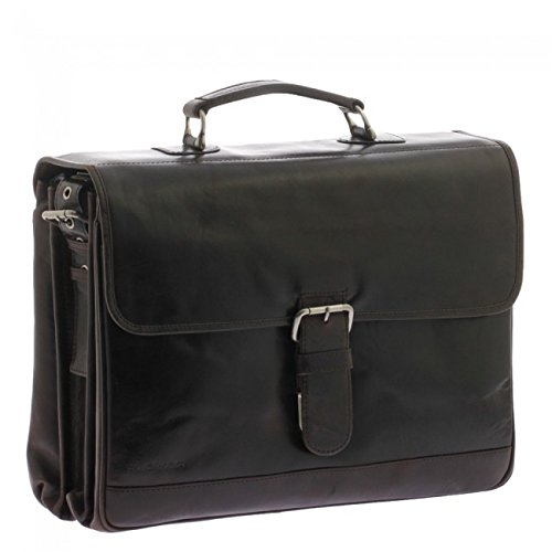 "Plevier 723-2 15.6"" Briefcase Brown - notebook cases (39.6 cm (15.6""), Briefcase, Brown, Leather, Monotone, 400 mm) Monotone"