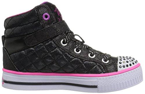 Skechers Shuffles - Sweetheart Sole, Sneakers Hautes fille Noir (Bkmt Noir/Multicouleur)