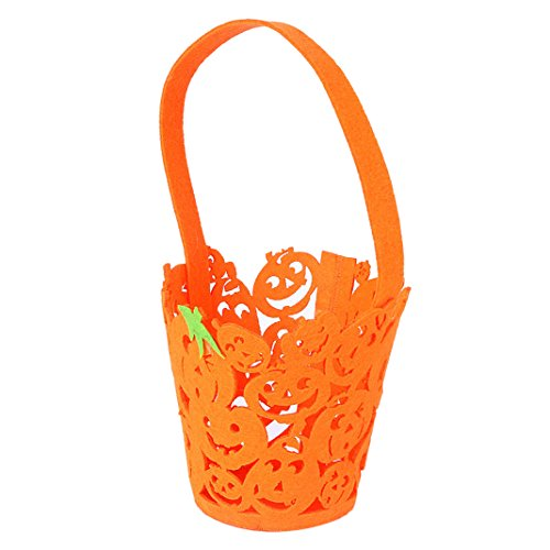 Moon mood Halloween Decoration - Orange Pumpkin Halloween Tote Bag Hollow Decoration Terror Fear Haunted House Toy Housekeeping Bar Open Air Outdoor Party