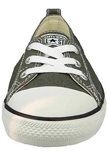 Ballerine Converse 537093C AS OX toile Dainty Basic Blanc Gris