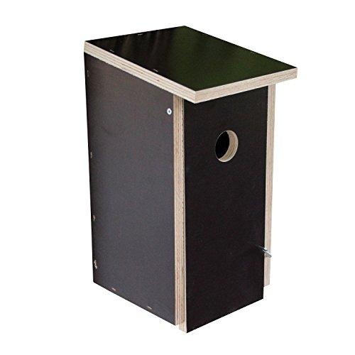 großer nesträubersicherer stabiler Nistkasten Vogelhaus Nisthaus - Brutraum: Innenmaße: 12x12x24cm - Abstand Einfluglochmitte / Boden: 17cm (gegen Nesträuber) - 2