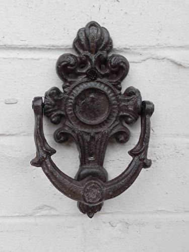 Dekorativer Türklopfer aus Gusseisen braun Landhausstil