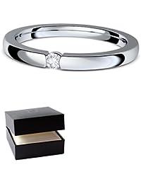 Verlobungsringe Silber 925 ❤️❤️❤️ Spannring von AMOONIC mit SWAROVSKI Zirkonia Stein Silber-Ring Damen-Ring wie Diamant-Ring Weißgold Solitär-Ring Heiratsantrag Antrag AM195SS925ZIFA-7