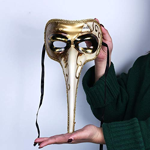 Kostüm Masquerade Kleid Ball - MONWSE männer Venetian Masquerade Masked Ball Party Prom Phantasie Kleid Kostüm Zubehör, Unisex-Erwachsene